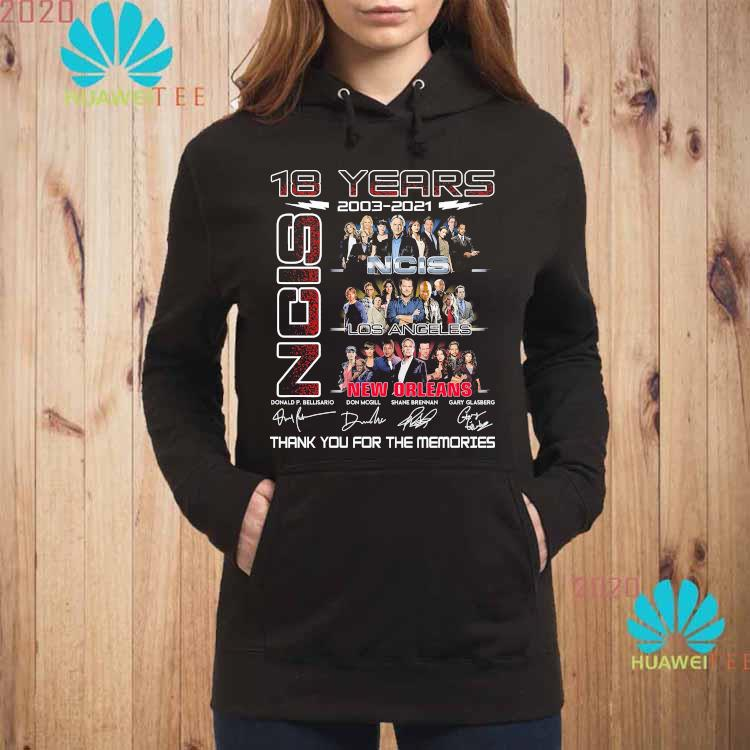 18 Years 2003 2021 NCIS New Orleans Thank You For The Memories Shirt hoodie