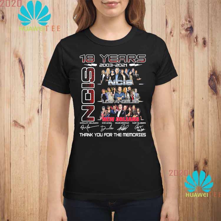18 Years 2003 2021 NCIS New Orleans Thank You For The Memories Shirt ladies-shirt