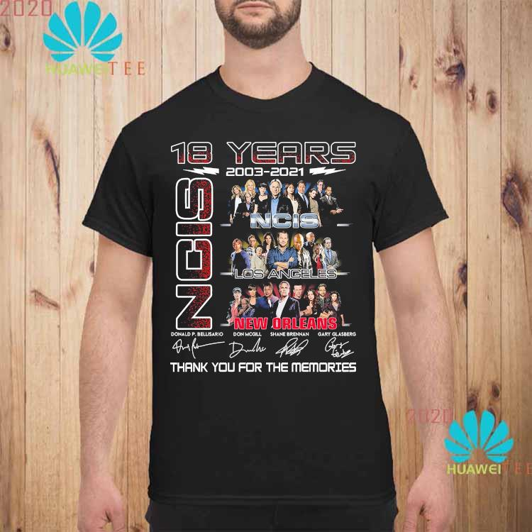18 Years 2003 2021 NCIS New Orleans Thank You For The Memories Shirt unisex