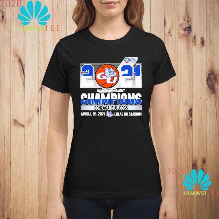 2021 Ncaa Tournament Champions Gonzaga Bulldogs Team Basketball Shirt ladies-shirt