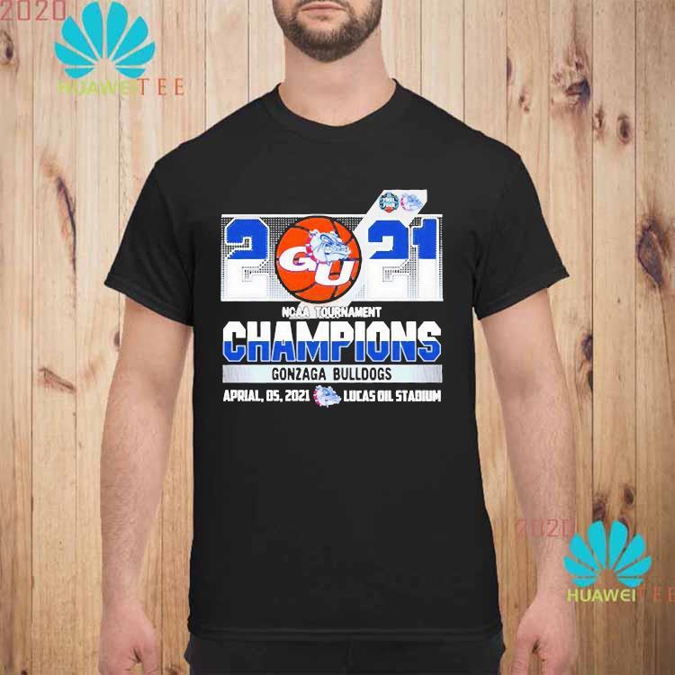 2021 Ncaa Tournament Champions Gonzaga Bulldogs Team Basketball Shirt unisex