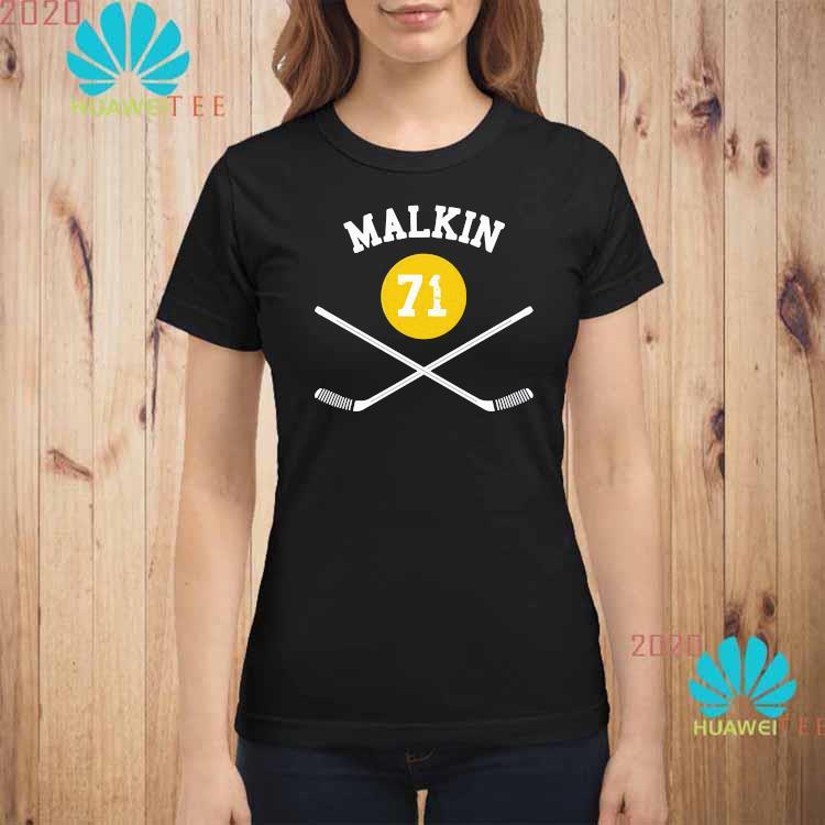 71 Evgeni Malkin Pittsburgh Sticks Shirt ladies-shirt