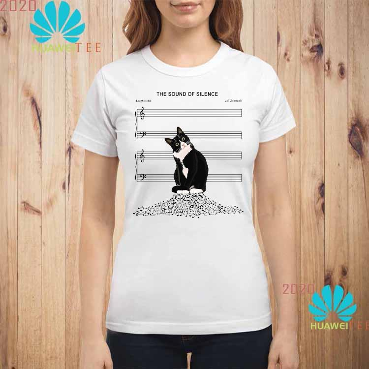 Black Cat The Sound Of Silence Shirt ladies-shirt