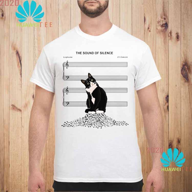 Black Cat The Sound Of Silence Shirt unisex