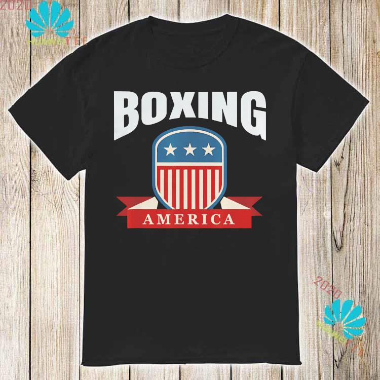 Boxing America Contact Sport Ringside Apparel Usa Shirt