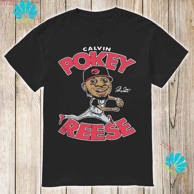 Calvin Pokey Reese Played Second Base For The Reds From Shirt