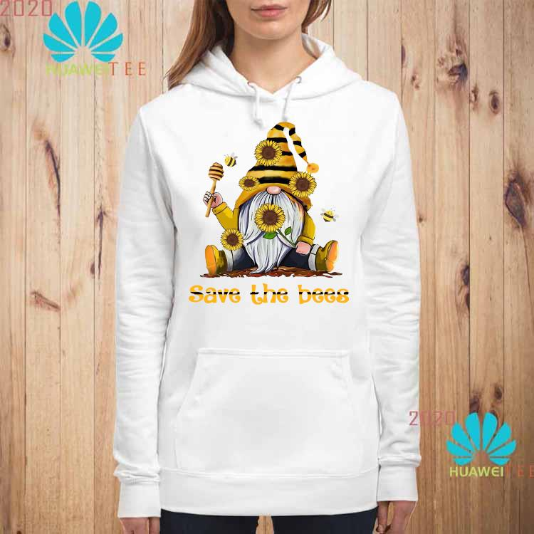 Gnome Sunflowers Bee Save The Bees Shirt hoodie