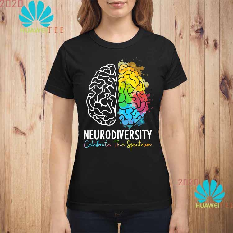 Neurodiversity Celebrate The Spectrum Shirt ladies-shirt