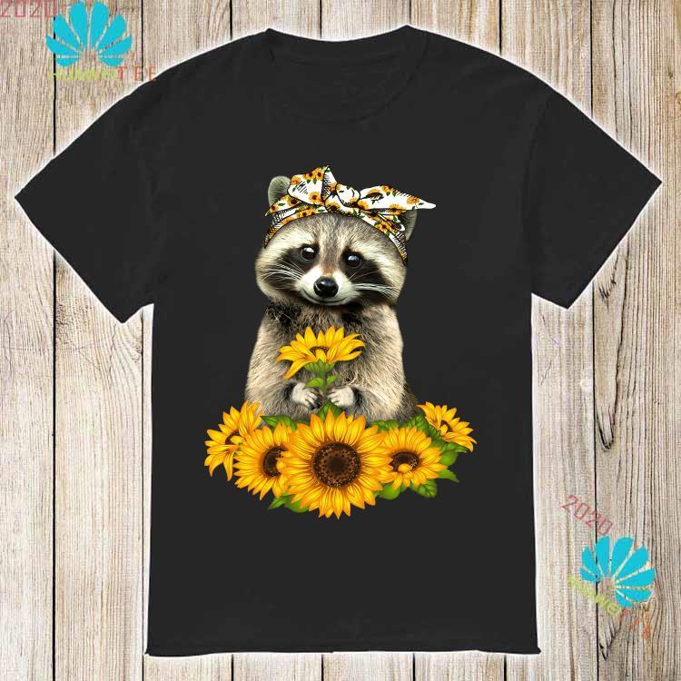 Raccoon Hug Sunflower Shirt
