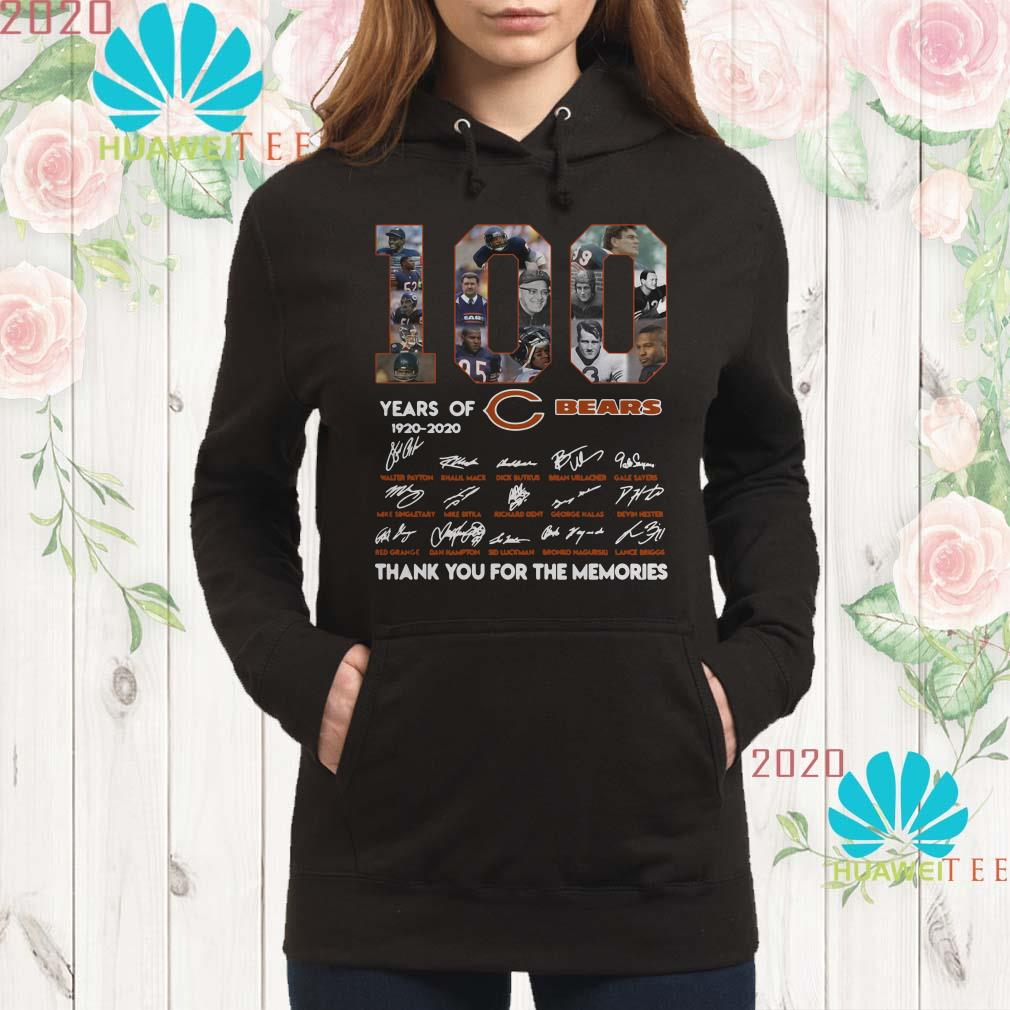100 years of 1920-2020 Chicago Bears signatures hoodie