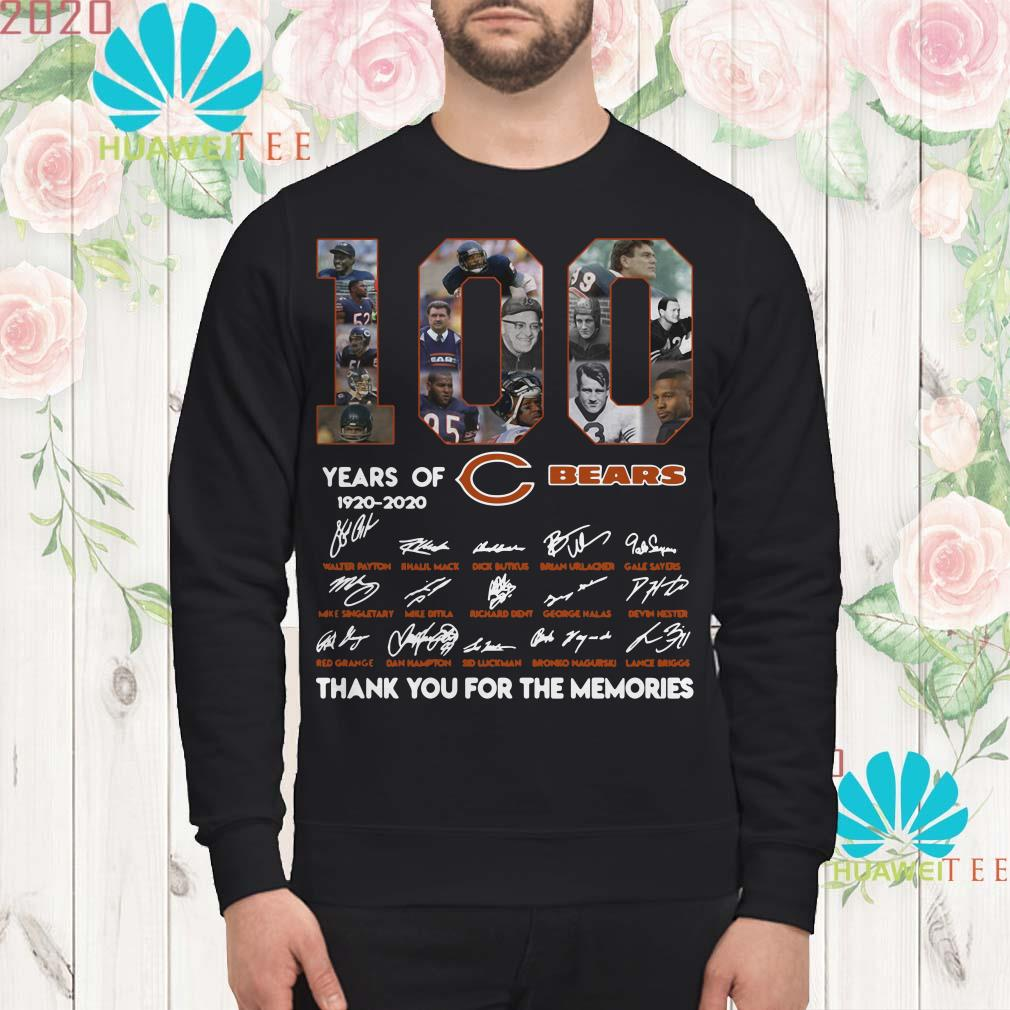 100 years of 1920-2020 Chicago Bears signatures sweatshirt