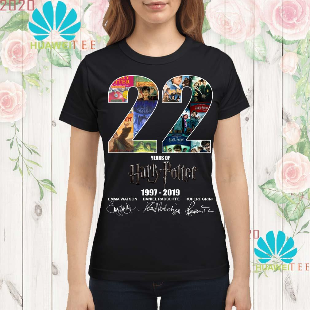 22 years of Harry Potter 1997-2019 signature ladies shirt