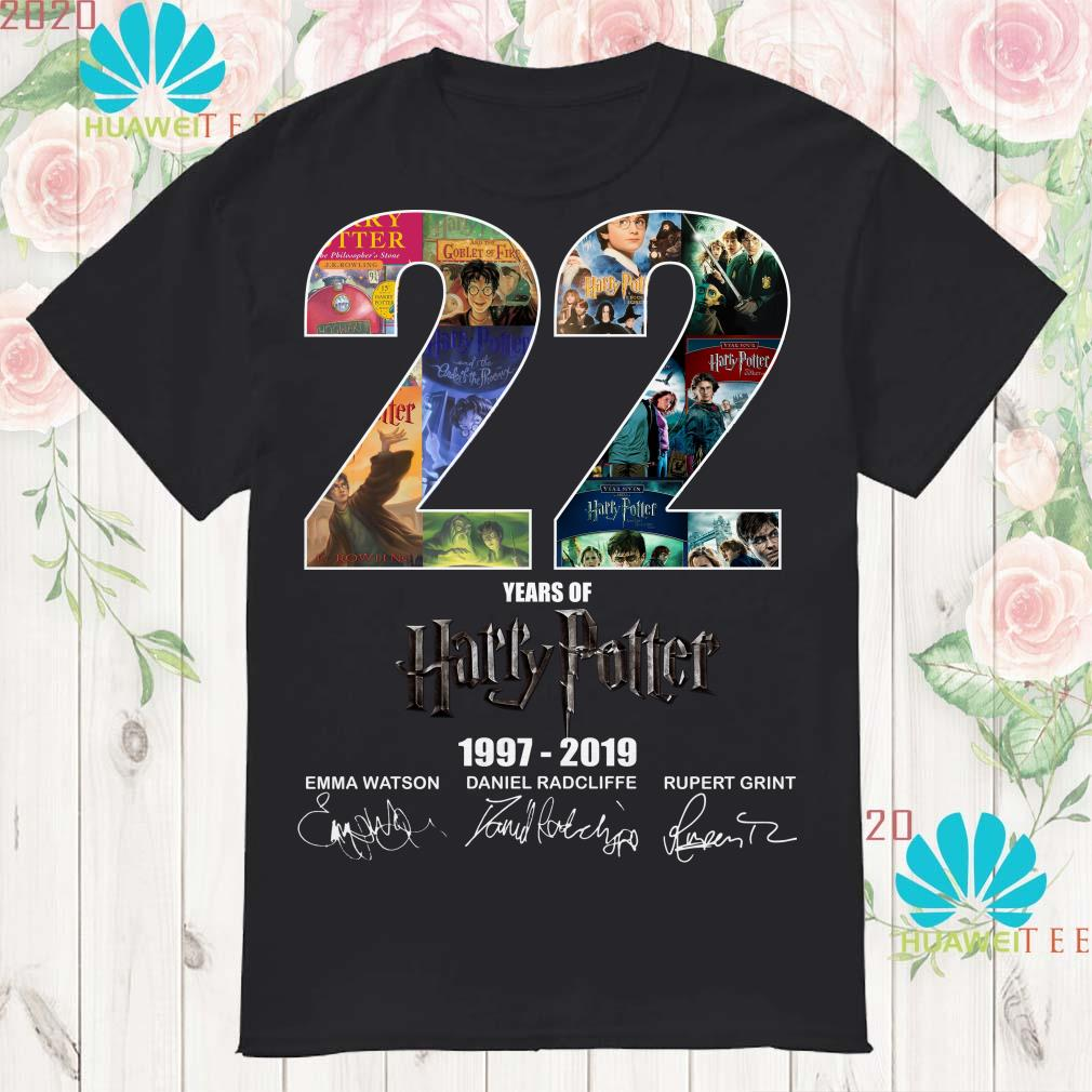 22 years of Harry Potter 1997-2019 signature shirt