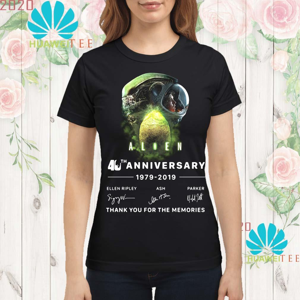 Alien 40th anniversary thank you for the memories signature Ladies shirt