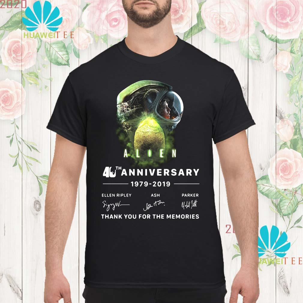 Alien 40th anniversary thank you for the memories signature Men shirt