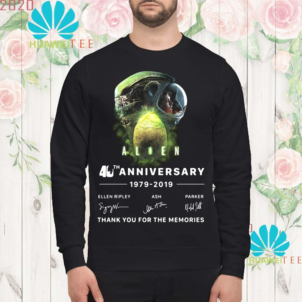 Alien 40th anniversary thank you for the memories signature Sweatshirt
