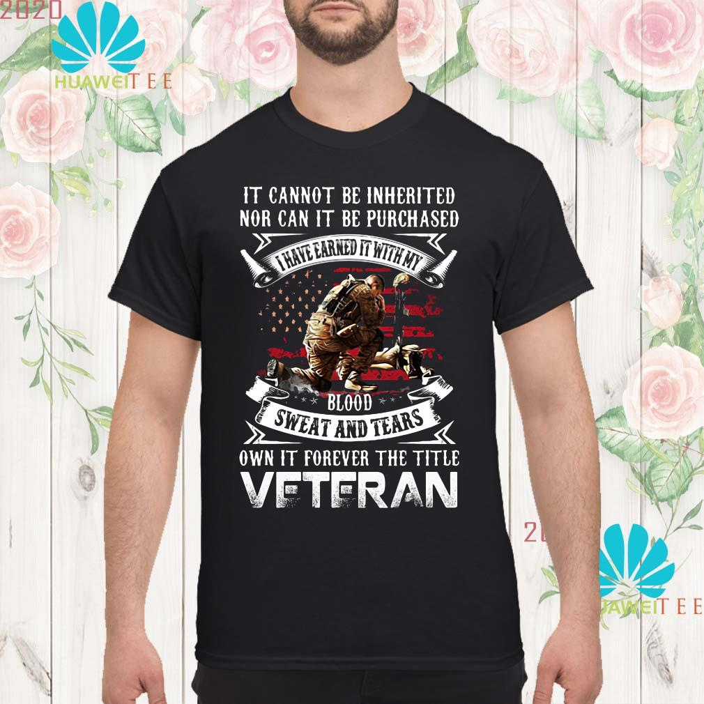 It cannot be inherited nor can it be purchased veteran Men shirt