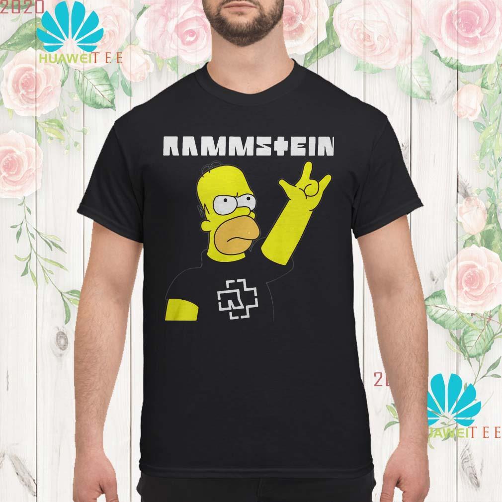 Rammstein Homer Simpson men shirt