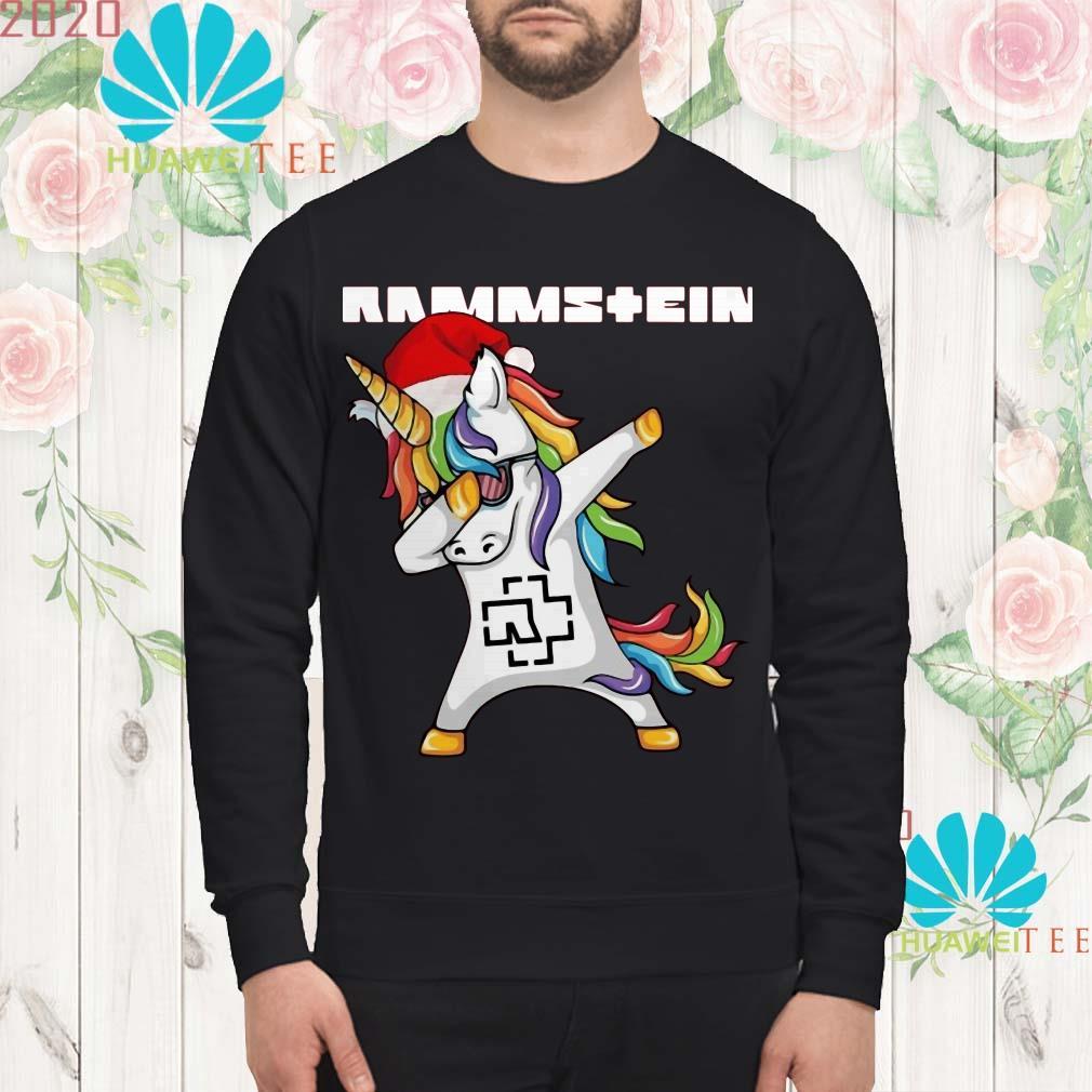 Santa Unicorn dabbing Rammstein sweatshirt