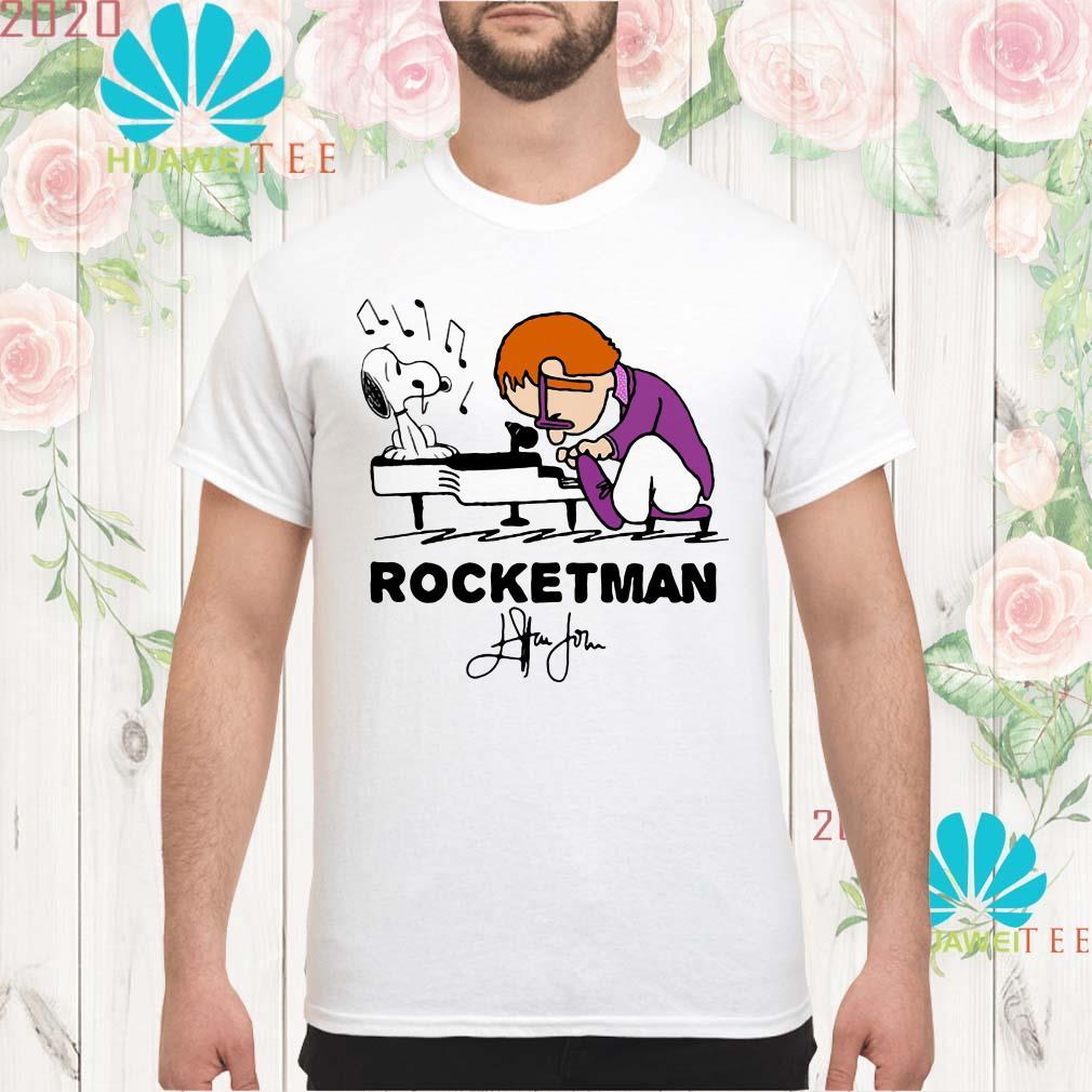 Snoopy and Rocketman John Elton play piano men shirt
