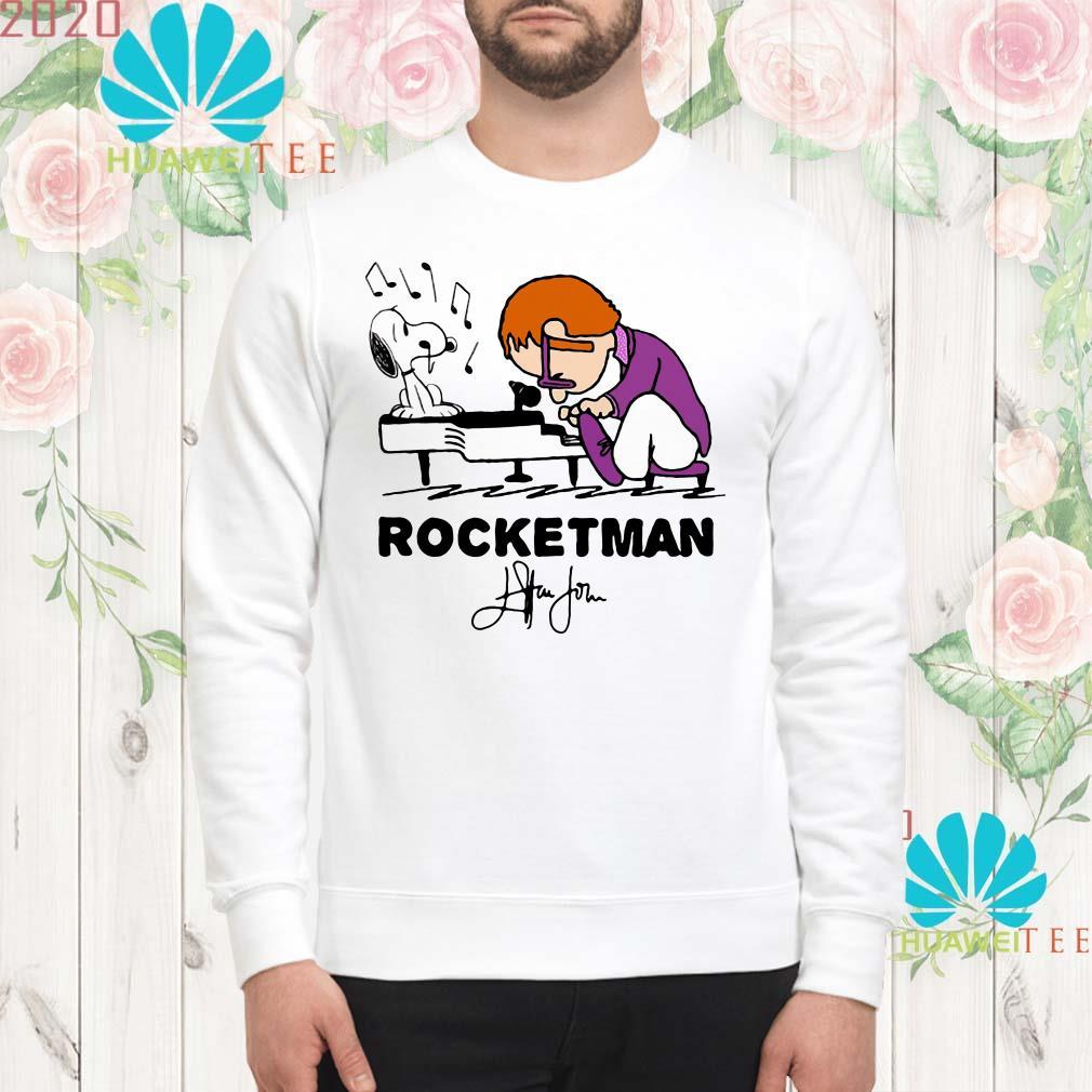 Snoopy and Rocketman John Elton play piano sweatshirt