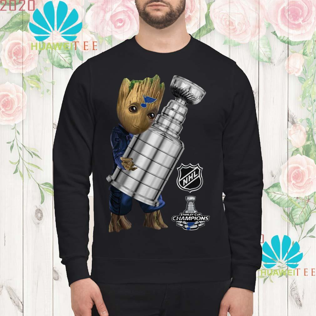 St. Louis Blues Baby Groot Hug Stanley Cup Champions 2019 sweatshirt