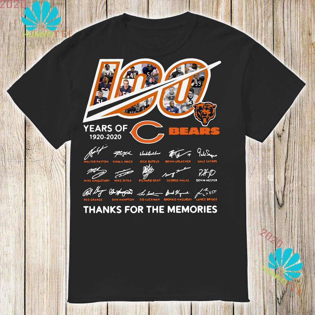 fd5beb80 100 Years of Chicago Bears signature thanks you for the memories shirt