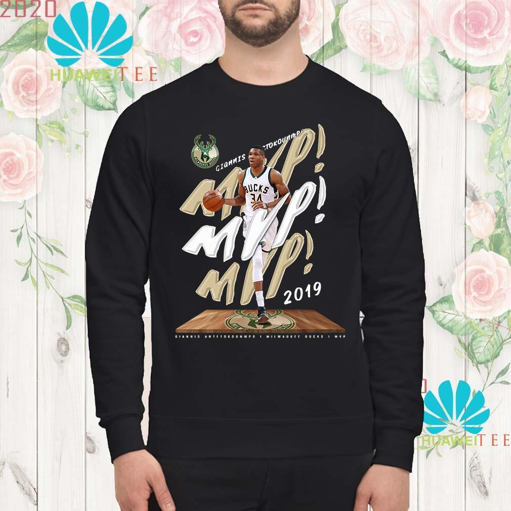 hot sale online 8bf0e 0c0b8 Fanatics Giannis Antetokounmpo 2019 NBA MVP Milwaukee Bucks shirt