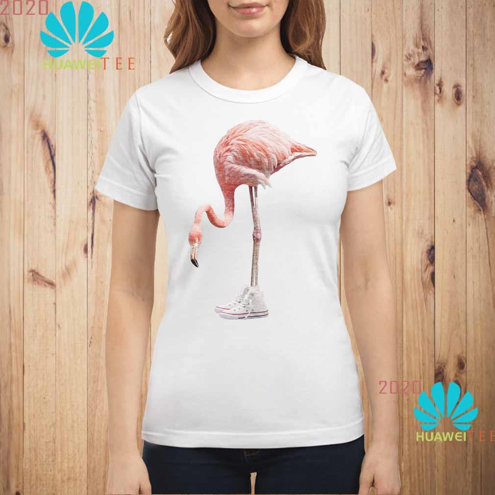 Flamingo and shoe Ladies shirt