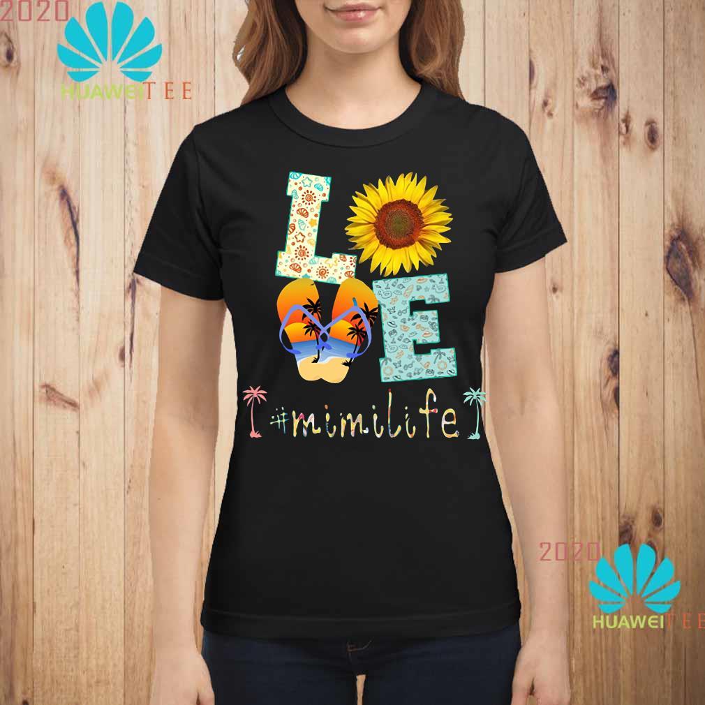 love sunflower and slippers mimi life Ladies shirt