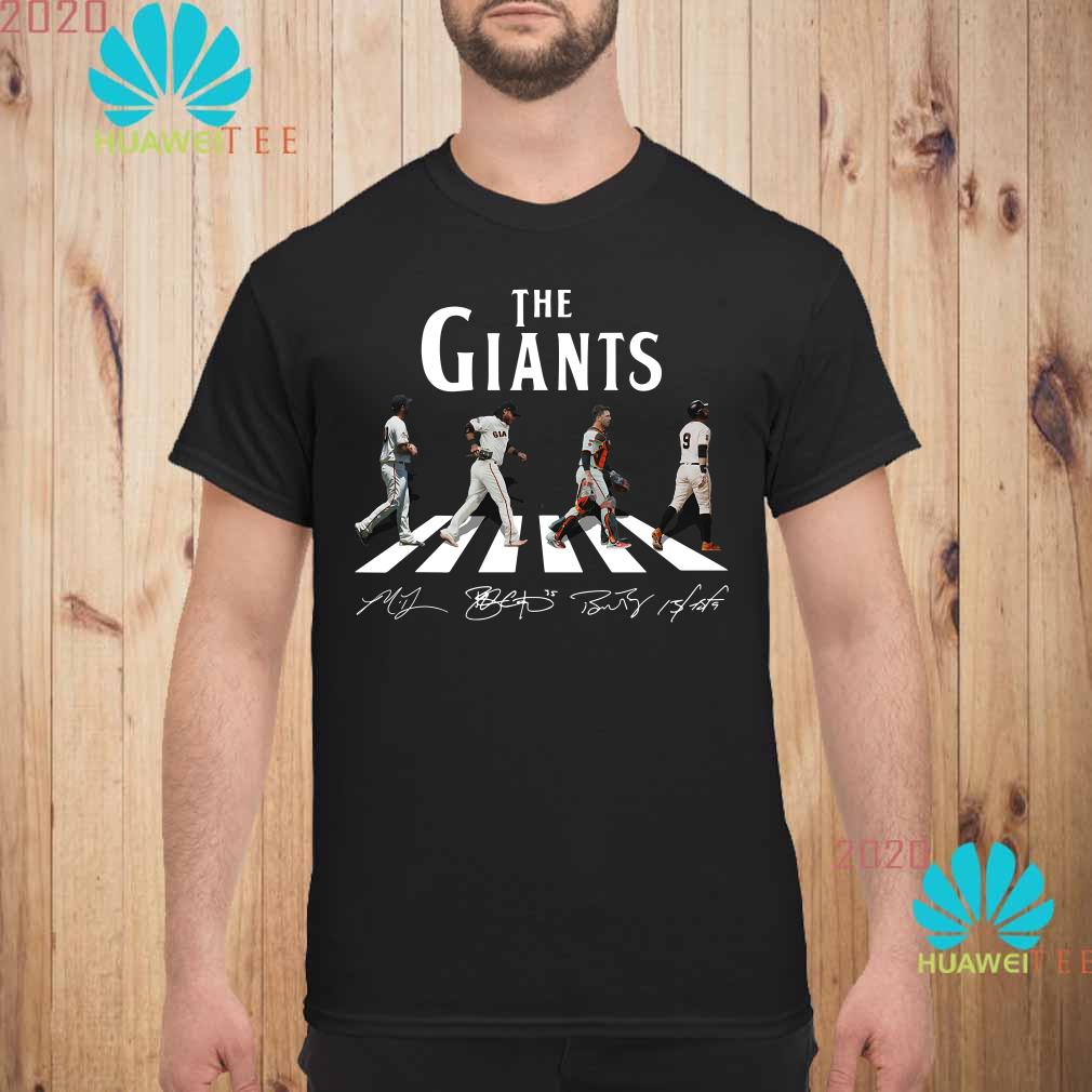 new concept 89ab5 28811 The Giants Abbey road signature shirt