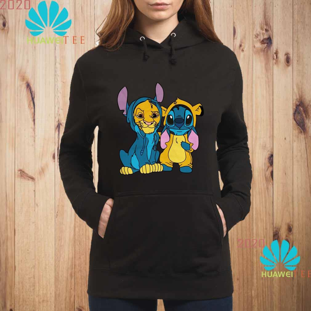 The Lion King Simba And Stitch Is Best Friend Shirt Sweater Hoodie And Ladies Shirt
