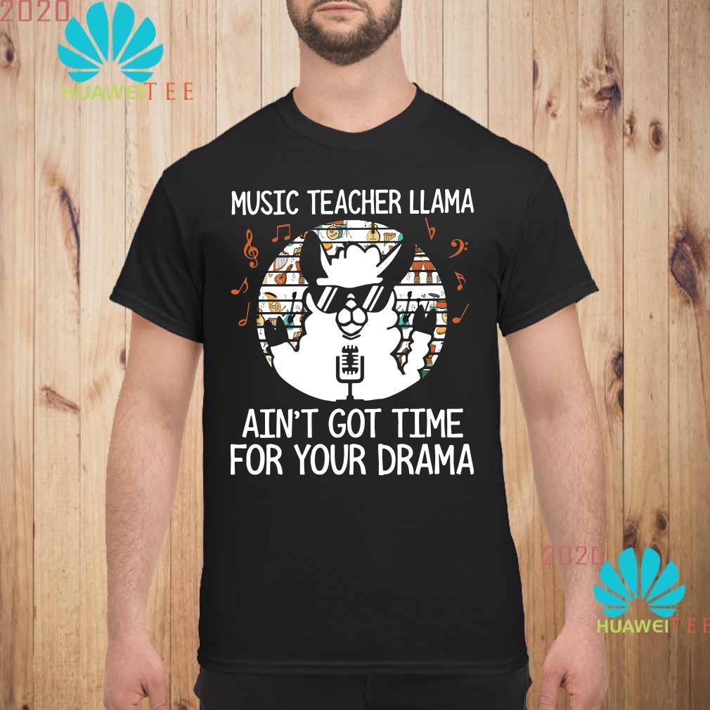 Music teacher Llama ain't got time for your drama Men shirt