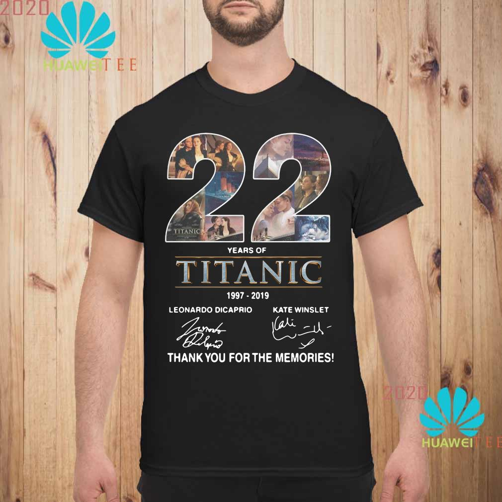 22 Years of Titanic 1997-2019 thank you for the memories Men shirt