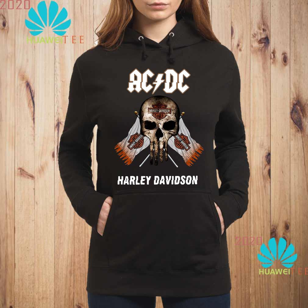 AC DC Harley Davidson skull Hoodie