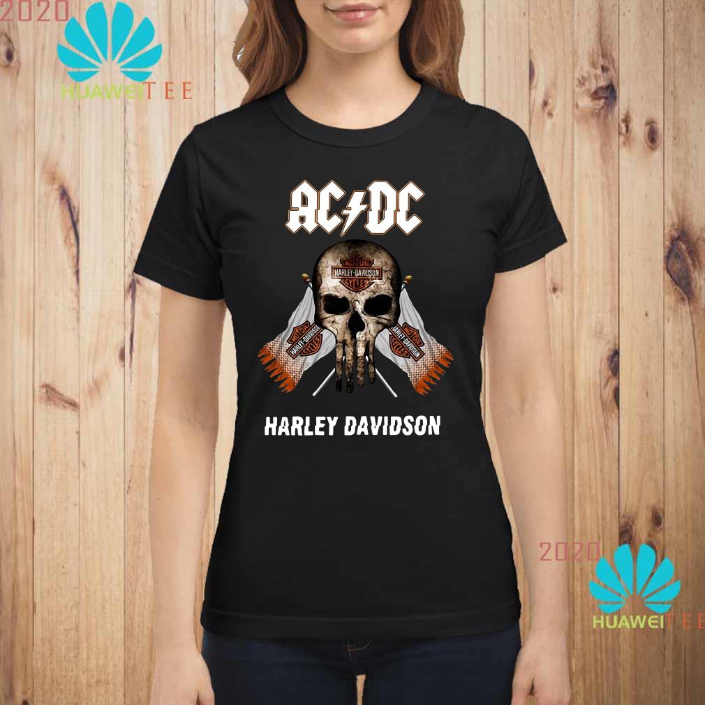 AC DC Harley Davidson skull Ladies shirt
