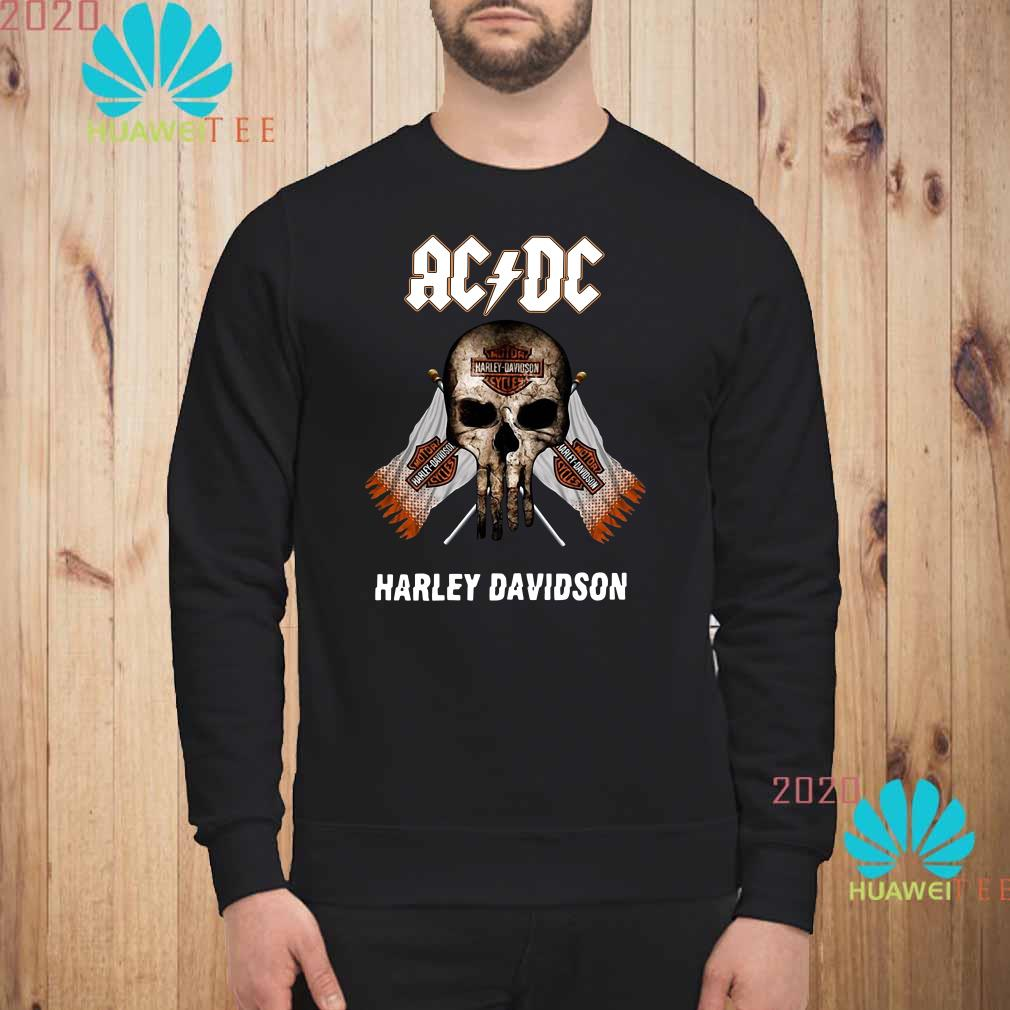 AC DC Harley Davidson skull Sweatshirt