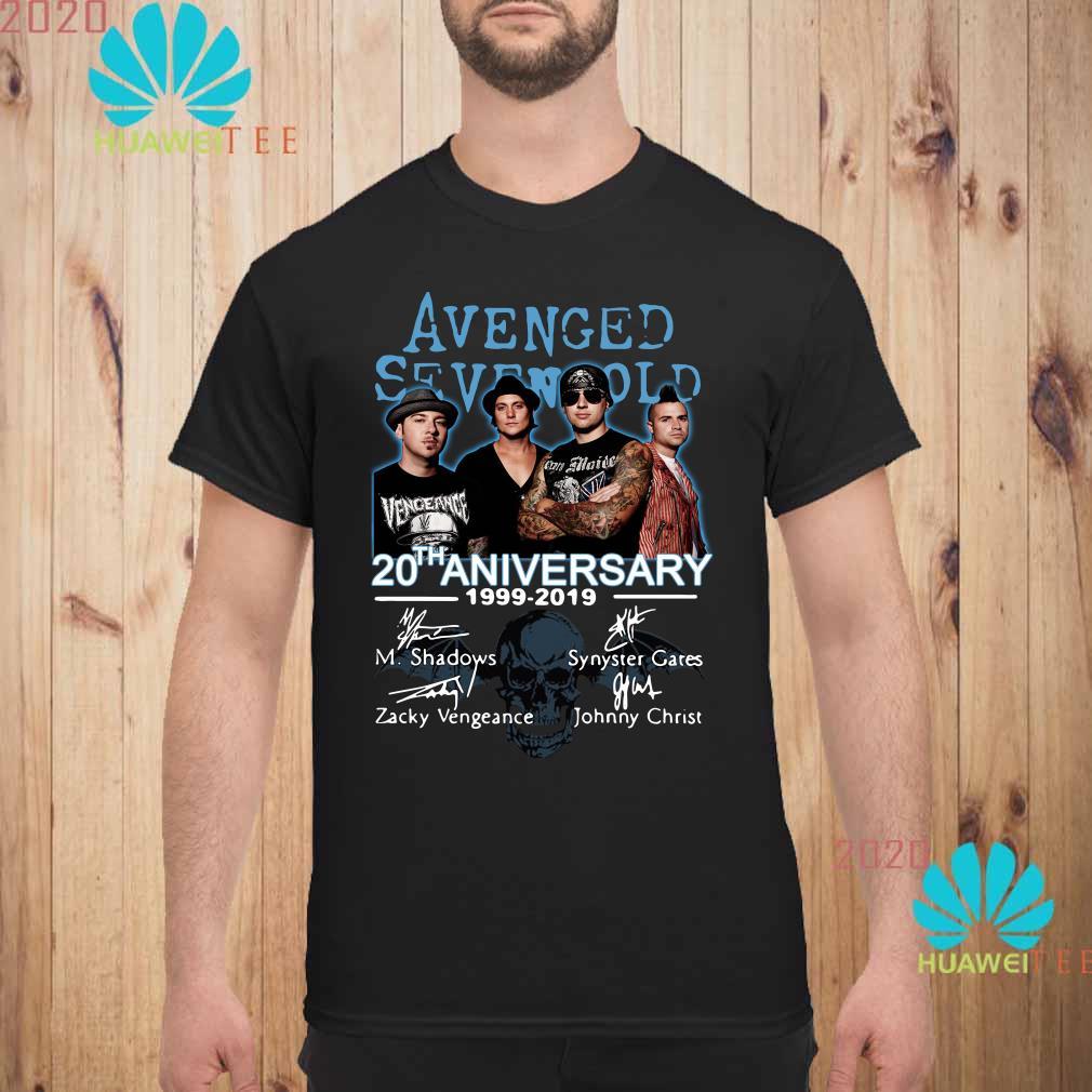 Avenged Sevenfold Tour 2020.Avenged Sevenfold 20th Anniversary 1999 2019 Signature Shirt