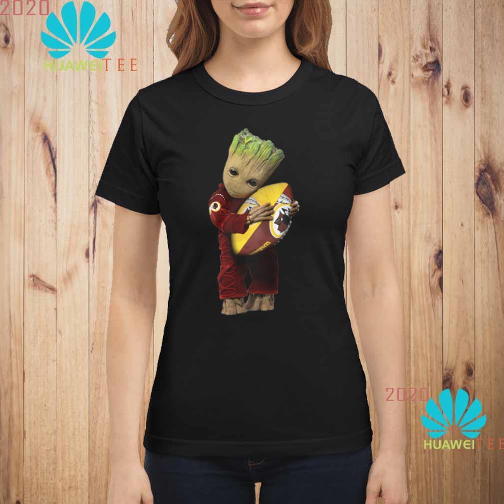 Baby Groot Hug Redskins Wallpaper Ladies shirt