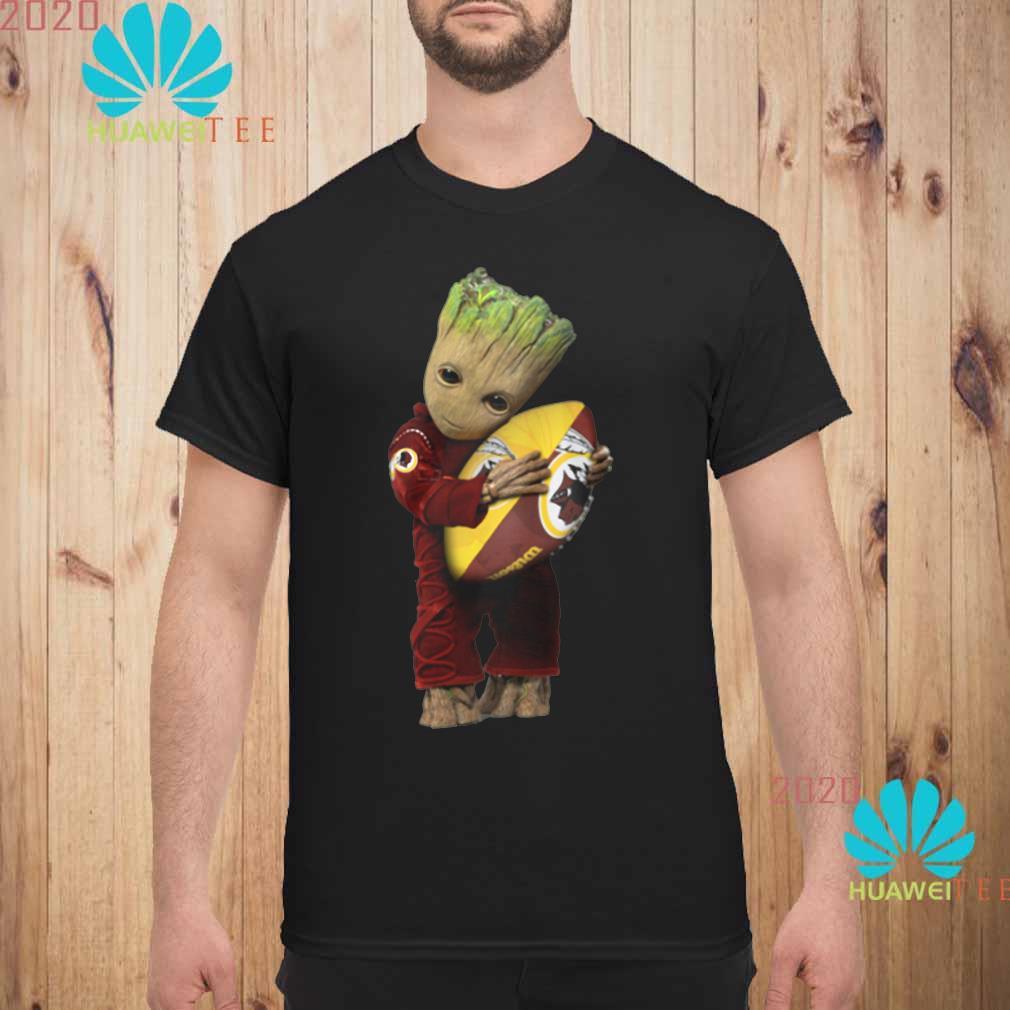 Baby Groot Hug Redskins Wallpaper Men shirt