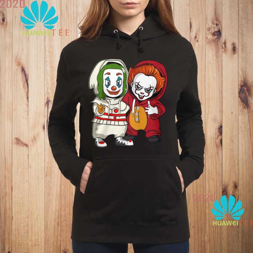 Baby Joker and baby Pennywise Hoodie