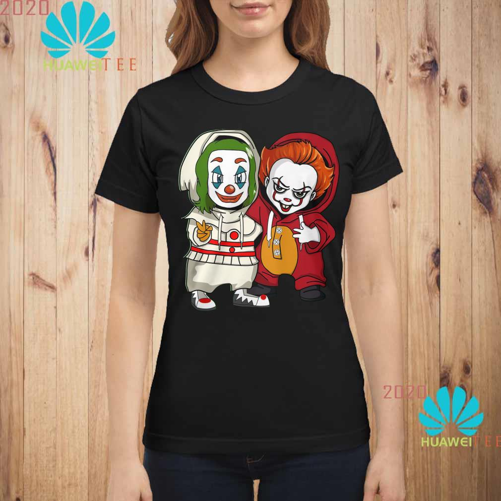 Baby Joker and baby Pennywise Ladies shirt