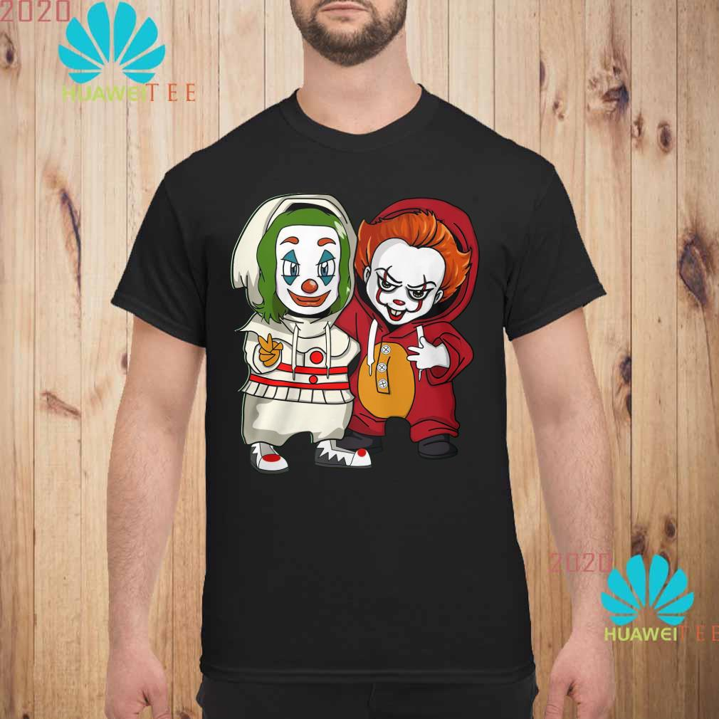 Baby Joker and baby Pennywise Men shirt