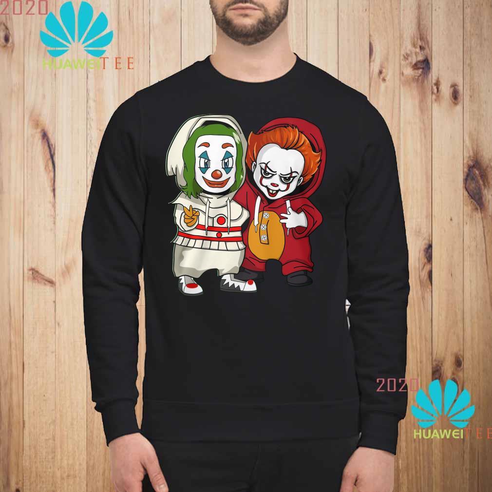 Baby Joker and baby Pennywise Sweatshirt