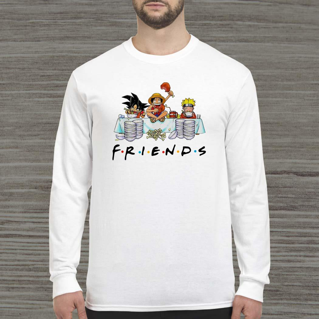 Son Goku Naruto and Luffy friends Long-sleeved
