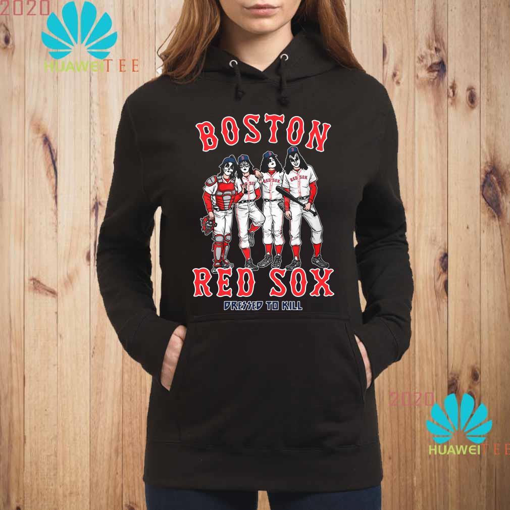 Kiss Boston Red Sox dressed to kill Hoodie