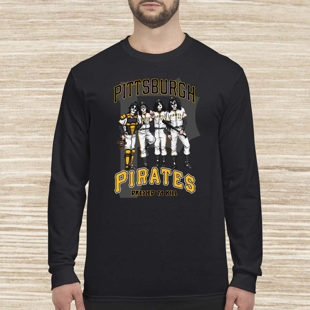 Kiss Pittsburgh Pirates Dressed To Kill Long Sleeved
