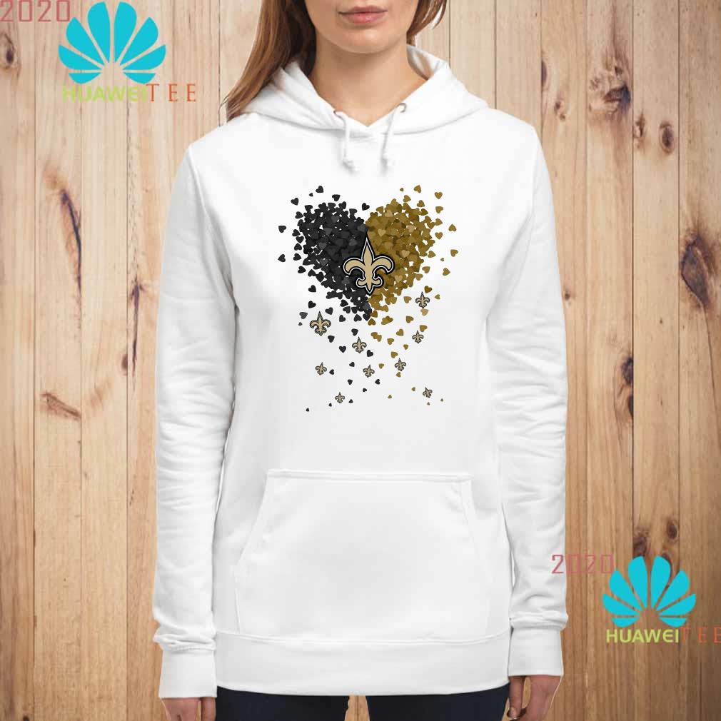 New Orleans Saints Tiny Hearts Shape Hoodie