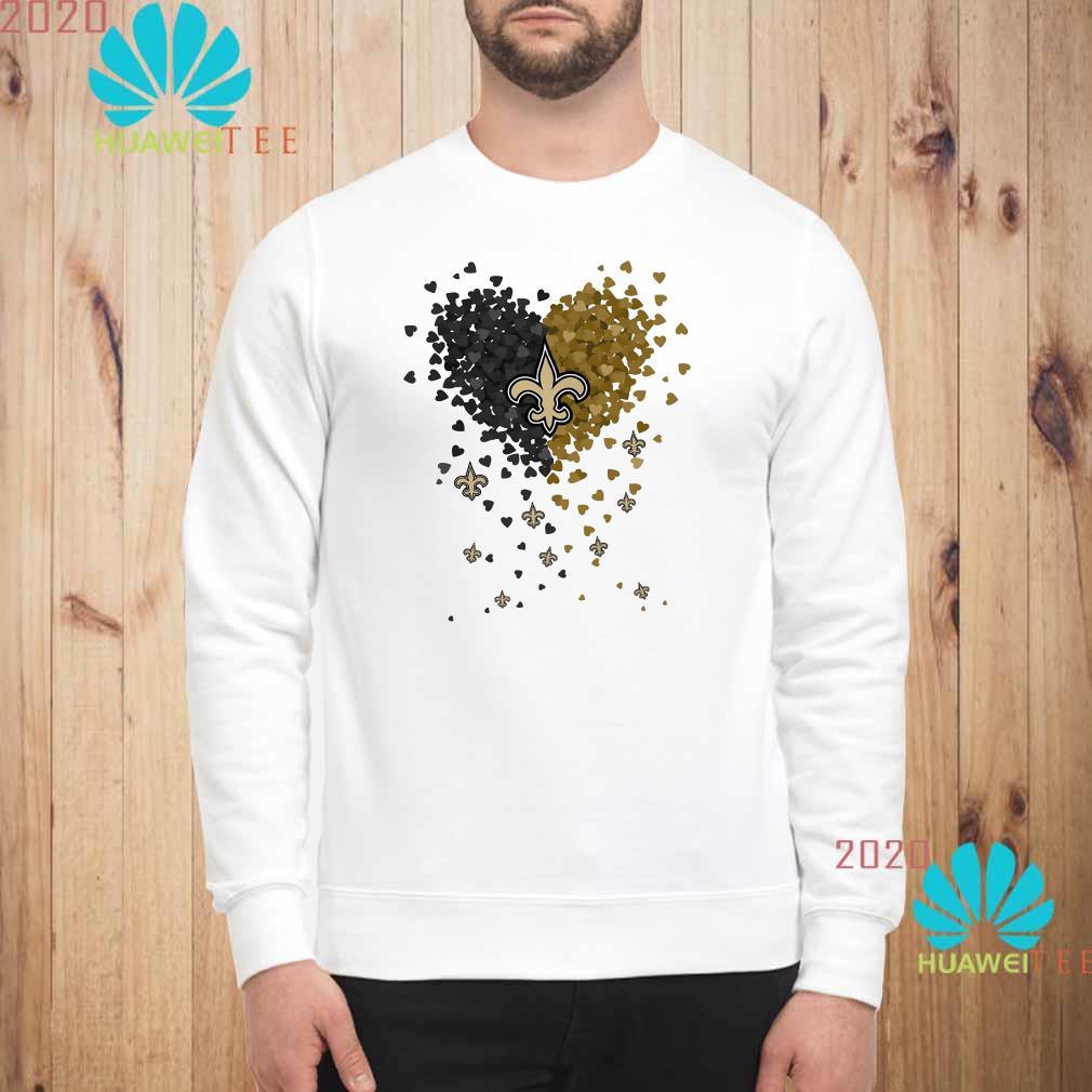 New Orleans Saints Tiny Hearts Shape Sweatshirt