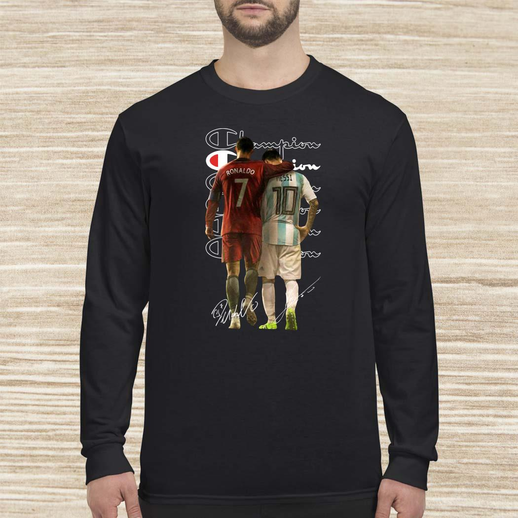 Ronaldo and Messi Champion signatures long sleeved
